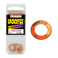 "CHAMPION FASTENERS BH068 COPPER WASHERS 5/16"" x 5/8"" PACK OF 5"