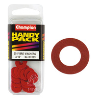 "CHAMPION FASTENERS BH109 FIBRE WASHERS 3/16"" x 1/2"" - 1/32"" THICK PACK OF 25"
