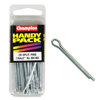 "CHAMPION FASTENERS BH183 SPLIT PINS 7/64"" x 2"" PACK OF 20"