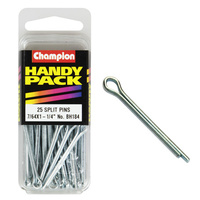 "CHAMPION FASTENERS BH184 SPLIT PINS 7/64"" x 1-1/4"" PACK OF 25"