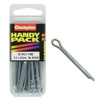 CHAMPION FASTENERS BH185 SPLIT PINS 3.2mm x 32mm PACK OF 20