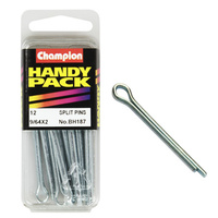 "CHAMPION FASTENERS BH187 SPLIT PINS 9/64"" x 2"" PACK OF 12"
