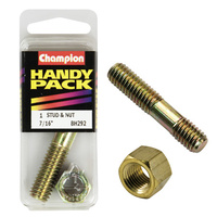 "CHAMPION FASTENERS BH292 MANIFOLD STUD & NUT 7/16"" x 2-1/4"" UNC PACK OF 1"