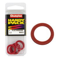 "CHAMPION FASTENERS BH631 SUMP PLUG FIBRE WASHERS 1/2"" x 3/4"" PACK OF 5"