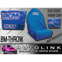 B&M THROWOVER SEAT COVER W/ LOGO SUIT BUCKET SEATS FORD FALCON AU BA BF FG XR6T