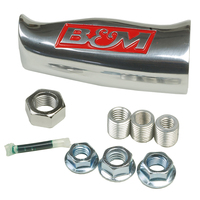 B&M UNIVERSAL ALUMINUM SHIFTER T-HANDLE WITH B&M LOGO -  BRUSHED ALLOY FINISH