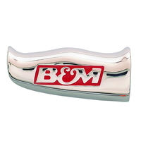 B&M UNIVERSAL SHIFTER T-HANDLE WITH B&M LOGO FITS VARIOUS SHIFTERS CHROME 80643