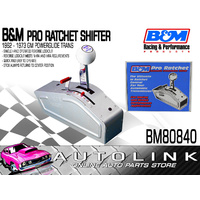 B&M PRO RATCHET RACE SHIFTER FOR GM POWERGLIDE - BRUSHED ALLOY COVER