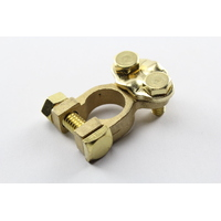 PROJECTA BATTERY TERMINALS BRASS POS / NEG WITH SCREW DOWN BACK CABLE ENTRY x2