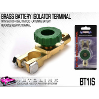 BRASS BATTERY ISOLATOR TERMINAL WITH SHUT OFF DIAL TO AVOID FLATTENING BATTERY