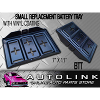 """BATTERY TRAY METAL STEEL VINYL COATED SMALL SUIT N50 SIZES BATTERIES 11"""" x 7"""""""