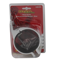 DNA CAB209S UNIVERSAL SILVER BULL BAR BRACKET FOR 76 - 81mm DIA BARS x1