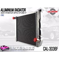 "CAL CUSTOMS ALUMINIUM RADIATOR SUIT FORD FALCON 302 V8 & 6CYL 19"" HIGH 22"" WIDE"