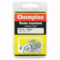 "CHAMPION FASTENERS CBB24 SPRING WASHERS 4 SIZES 3/16"" TO 3/8"" ASSORTMENT PACK"