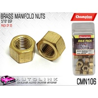 "CHAMPION BRASS MANIFOLD NUTS 5/16"" BSF CMN106 (PACK OF 25)"