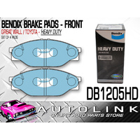 BENDIX BRAKE PADS FRONT FOR TOYOTA HILUX 2.0lt RZN147 RZN152H 1999 - 2004