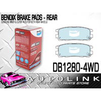 BENDIX 4WD BRAKE PADS REAR SUIT GREAT WALL X200 X240 (CHECK APPLICATION BELOW)