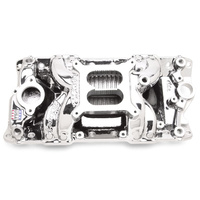 EDELBROCK ED75014 RPM AIR GAP ENDURA FINISH INTAKE MANIFOLD FOR CHEV SB V8