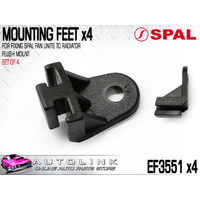 SPAL EF3551 FAN MOUNT PLASTIC BRACKET - FLUSH MOUNT FOR ALL SPAL THERMO FANS x4