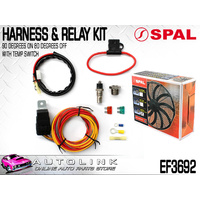 SPAL HARNESS & RELAY KIT WITH TEMP SWITCH (90 DEG ON/80 DEG OFF) SUITS SPAL FANS