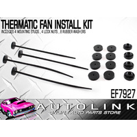 THERMO FAN FITTING KIT - UNIVERSAL WITH 4 MOUNT PEGS, ZIP NUTS & RUBBER WASHERS
