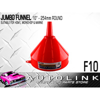 "JUMBO FUNNEL 10"" ( 254mm ) ROUND FOR HOME , WORKSHOP , AUTOMOTIVE & MARINE x 1"