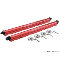 RED BILLET ALUMINIUM FUEL RAIL KIT FOR LS1 LS6 WITH LSXR MANIFOLD FAST146035-KIT
