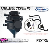 FLASHLUBE FCCKT23V CATCH CAN PRO - TOYOTA HILUX KUN26 3.0L TURBO WITH VSC 05-15