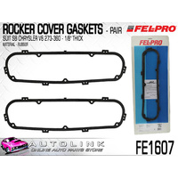 FELPRO FE1607 RUBBER ROCKER COVER GASKET PAIR FOR CHRYSLER SB V8 273 318 340 360