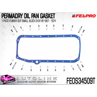 FEL-PRO PERMA-DRY RUBBER OIL PAN GASKET SUIT SMALL BLOCK CHEV V8 1957-1974