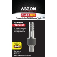 NULON FTAUTO11N TRANSMISSION FLUID FILLER CHANGE TOOL FOR M10 THREAD