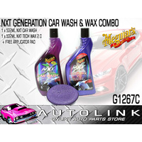MEGUIARS NXT WASH & WAX COMBO SET WITH APPLICATOR - SHOWROOM FINISH FOR YOUR CAR
