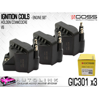 IGNITION COIL SET TO SUIT HOLDEN COMMODORE & CALAIS VN VP VR VS VT VX VY - V6