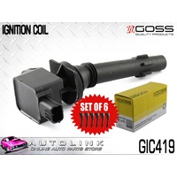 GOSS IGNITION COILS SUIT FORD FALCON FG 4.0L 6CYL ecoLPI GAS GIC419 x6