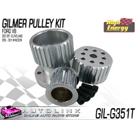 GILMER PULLEY KIT FOR FORD 289-351 WINDSOR V8 FALCON XR XT XW XY (NO A/C & P/S)