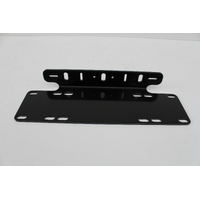 GREAT WHITES GWA0001 LED DRIVING LIGHT NUMBER PLATE MOUNTING BRACKET BLACK