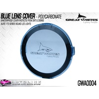 GREAT WHITES POLYCARBONATE LENS COVER BLUE FOR 170 SERIES LIGHTS GWA0004 x1