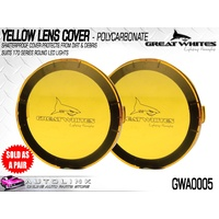 GREAT WHITES POLYCARBONATE LENS COVERS YELLOW SUITS 170 SERIES LIGHTS GWA0005 x2