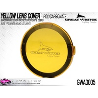 GREAT WHITES POLYCARBONATE LENS COVER YELLOW FOR 170 SERIES LIGHTS GWA0005 x1