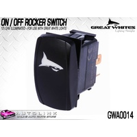 GREAT WHITES ON / OFF ROCKER SWITCH 12/24V ILLUMINATED 3 TERMINAL GWA0014