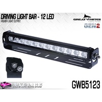 GREAT WHITES 12 LED DRIVING LIGHT BAR WITH BRACKET GEN-2 426mm WIDE GWB5123