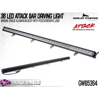 GREAT WHITES 36 LED ATTACK BAR DRIVING LIGHT - NEW DESIGN GWB5364