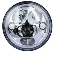 "GREAT WHITES 7"" LED SEALED BEAM HEADLIGHT INSERTS WITH PARK LIGHT (PAIR) GWF5005"