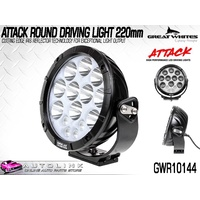 GREAT WHITES ATTACK ROUND DRIVING LIGHT - 220mm WATERPROOF UP TO 3mt GWR10144