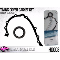 PERMASEAL TIMING COVER GASKET SET SUIT HOLDEN HQ HJ HX HZ WB 6CYL 1971-1985