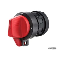 HELLA BATTERY MASTER LOCKOUT SWITCH 2 POLE RED HANDLE 300A @ 12V HM7592B