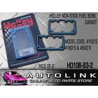 HOLLEY HO108-83-2 NON STICK BLUE FUEL BOWL GASKET 2300 4150 4160 4500 DEMON 2PK