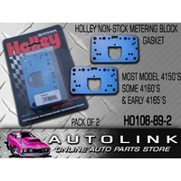 HOLLEY NON STICK METERING BLOCK GASKET BLUE 4150 4160 4165 & 2300 108-89-2 2PK