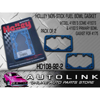 HOLLEY NON STICK FUEL BOWL GASKET BLUE 4165 PRIMARY 4150 4160 4175 108-92-2 2PK
