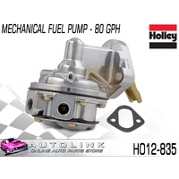 HOLLEY 80 GPH MECHANICAL CHROME FUEL PUMP SUIT BIG BLOCK CHEV V8 HO12-835